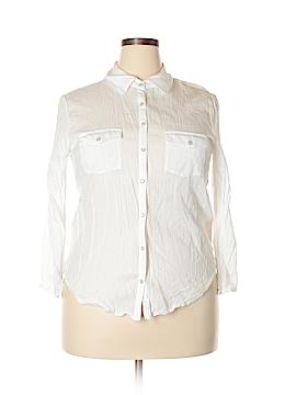 Eyeshadow Long Sleeve Button-Down Shirt Size XL
