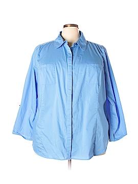 D&Co. Long Sleeve Button-Down Shirt Size 3X (Plus)