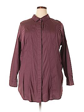 Soft Surroundings Long Sleeve Button-Down Shirt Size 2X (Plus)
