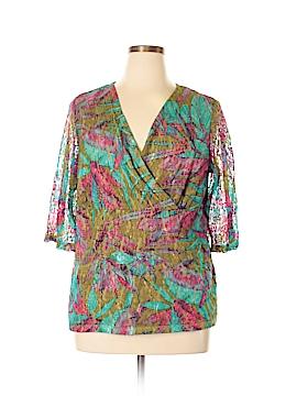 Maggie Barnes 3/4 Sleeve Top Size 0X (Plus)
