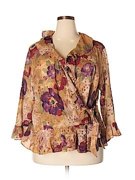 Chaps 3/4 Sleeve Blouse Size 3X (Plus)