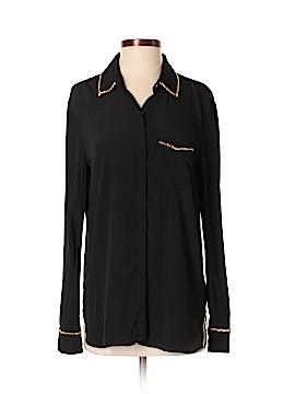 RACHEL Rachel Roy Long Sleeve Button-Down Shirt Size M