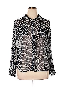 Jones New York Signature Long Sleeve Blouse Size 1X (Plus)