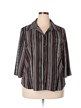 Covington 3/4 Sleeve Button-Down Shirt Size 20W (Plus)