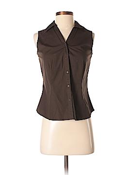 Ann Taylor Factory Sleeveless Button-Down Shirt Size 4 (Petite)