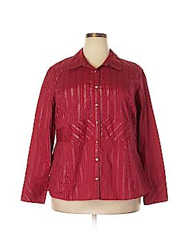 Studio 1940 Long Sleeve Button-Down Shirt Size 24 (Plus)