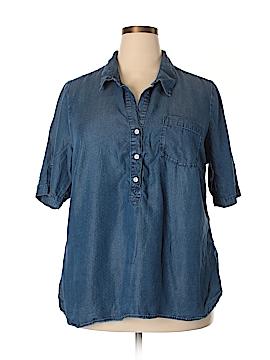 Lucky Brand Short Sleeve Button-Down Shirt Size 2X (Plus)