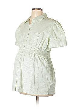 Mimi Maternity Short Sleeve Button-Down Shirt Size XL (Maternity)