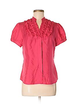 Peter Nygard Short Sleeve Silk Top Size 8