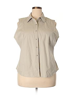 Mossimo Sleeveless Button-Down Shirt Size 20 (Plus)