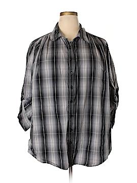 Spense Long Sleeve Button-Down Shirt Size 3X (Plus)