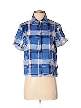Zara Basic Short Sleeve Button-Down Shirt Size XS