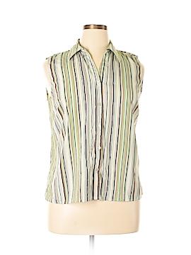 Elementz Sleeveless Button-Down Shirt Size XL