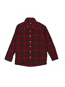 Lands' End Long Sleeve Button-Down Shirt Size 4