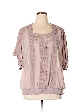 BILA Short Sleeve Blouse Size 2X (Plus)