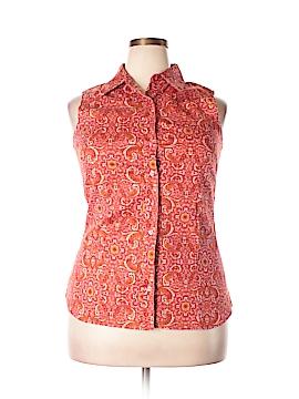 Chadwicks Sleeveless Button-Down Shirt Size 16