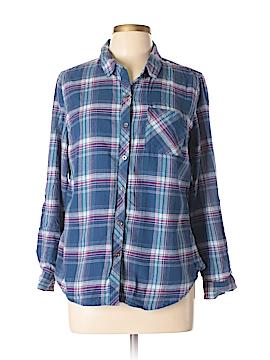 Laura Scott Long Sleeve Button-Down Shirt Size L