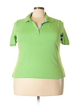 Lizwear by Liz Claiborne Short Sleeve Polo Size 1X (Plus)