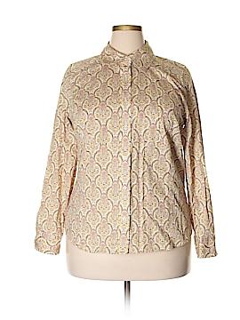 I.e. Long Sleeve Button-Down Shirt Size 1X (Plus)
