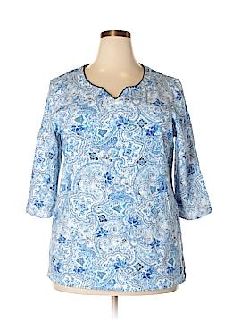 Allyson Whitmore 3/4 Sleeve Blouse Size 1X (Plus)