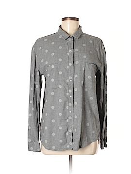 Hinge Long Sleeve Button-Down Shirt Size M