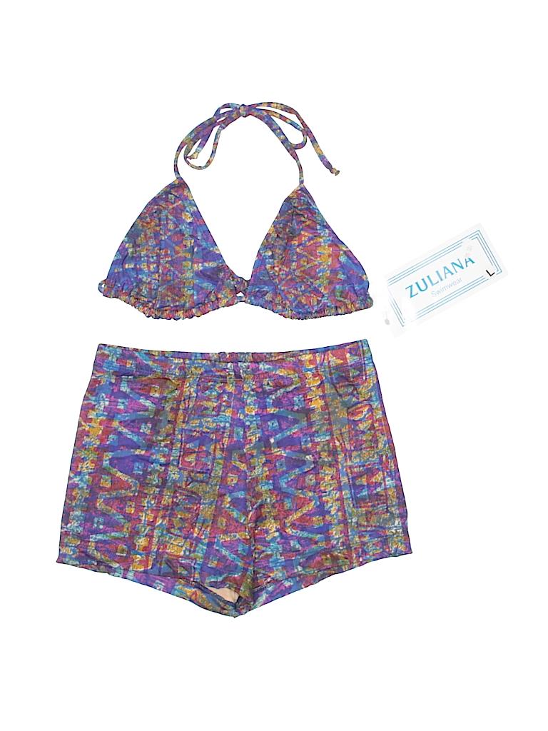 f6cdcdb6f5 Zuliana print dark purple two piece swimsuit size off thredup jpg 768x1024  Purple two piece swimwear