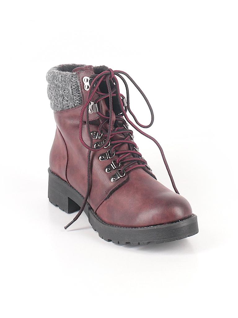 4135c7ed5147f Mia Crochet Color Block Burgundy Boots Size 10 - 71% off | thredUP