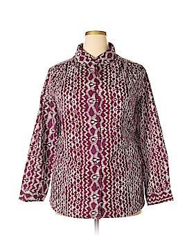 Roaman's Long Sleeve Button-Down Shirt Size 22 (1X) (Plus)