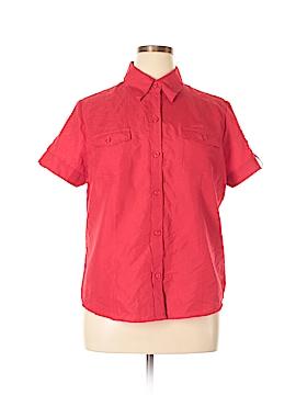 Joanna Short Sleeve Button-Down Shirt Size XL