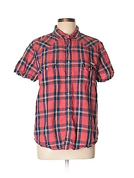 Lucky Brand Short Sleeve Button-Down Shirt Size L