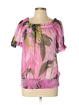 Karen Kane Short Sleeve Silk Top Size L