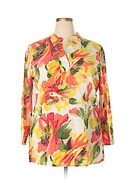 Life Style Long Sleeve Blouse Size 1X (Plus)