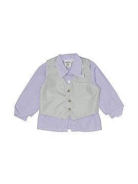 Happy Fella Long Sleeve Button-Down Shirt Size 24 mo