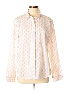 Garnet Hill Long Sleeve Button-Down Shirt Size 10