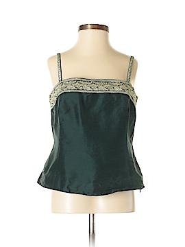 Petite Sophisticate Sleeveless Silk Top Size 4