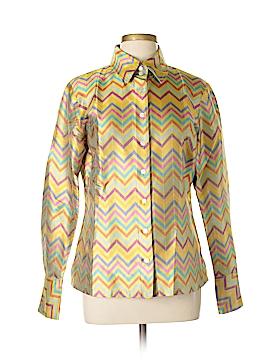 J. McLaughlin Long Sleeve Silk Top Size 10