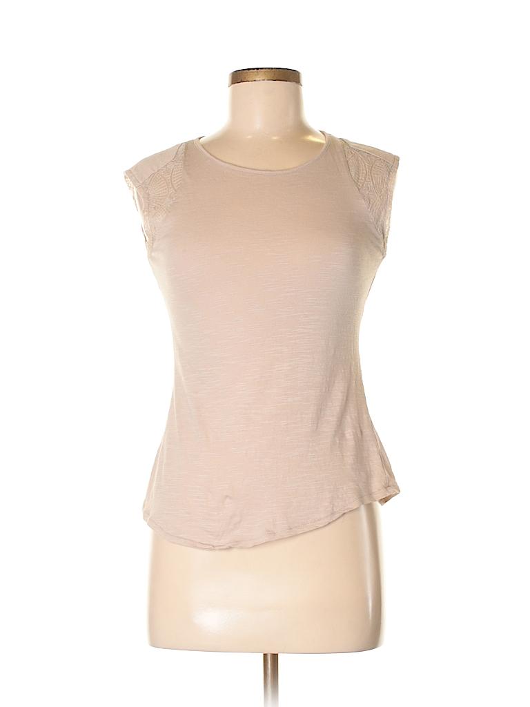 Blue Saks Fifth Avenue Women Short Sleeve Top Size S