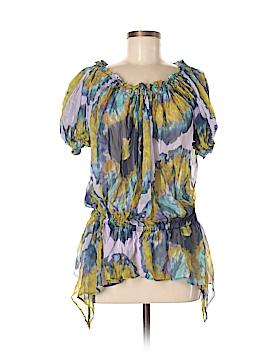 Zara W&B Collection 3/4 Sleeve Silk Top Size M