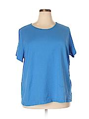 Basic Editions Women Short Sleeve T-Shirt Size 2X (Plus)