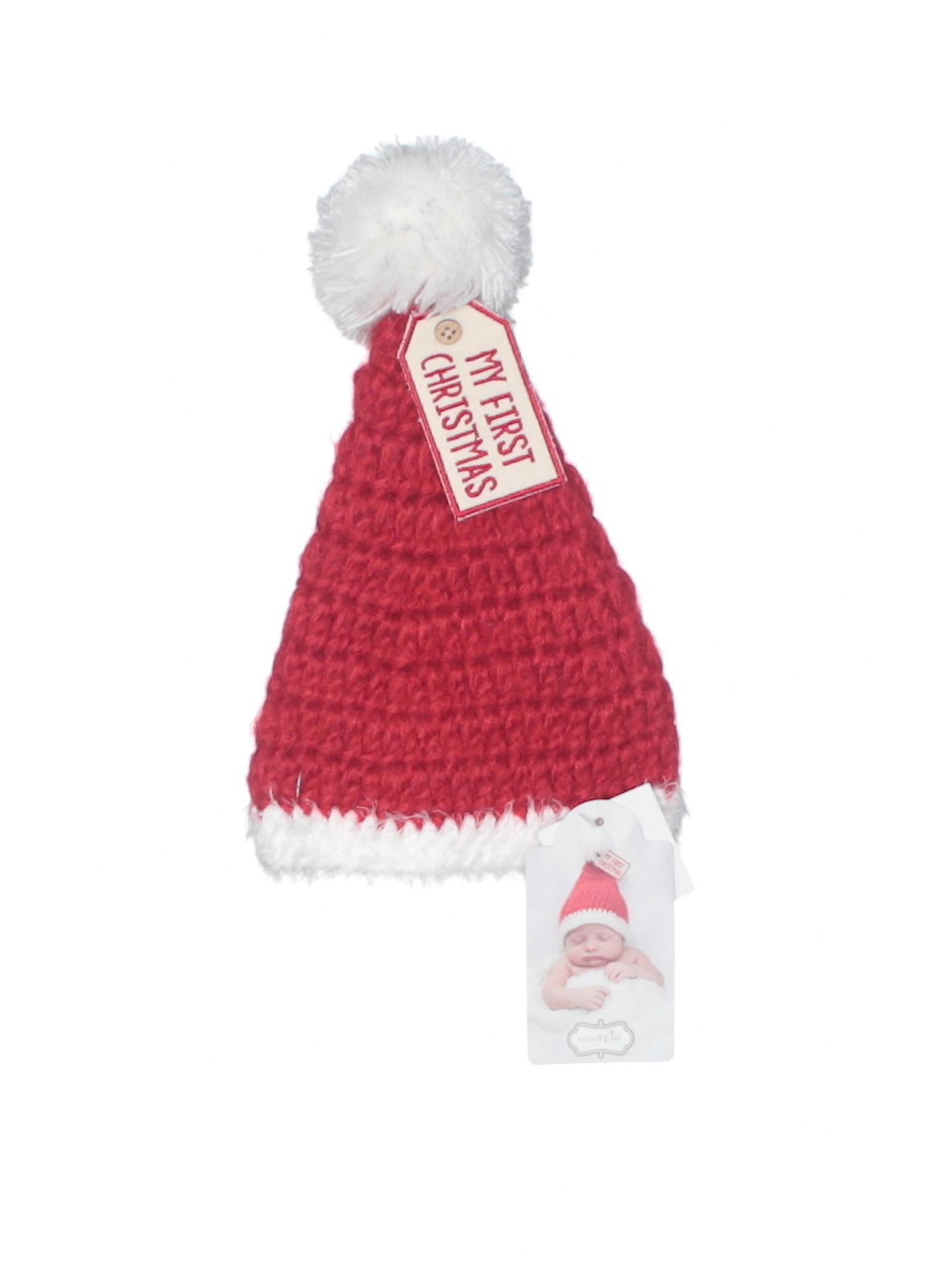 96f7740d62e5ee Mud Pie 100% Acrylic Crochet Red Beanie Size 0-3 mo - 42% off | thredUP
