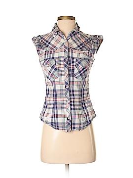 Fun & Flirt Sleeveless Button-Down Shirt Size S