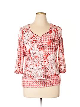 Liz & Co 3/4 Sleeve Henley Size XL
