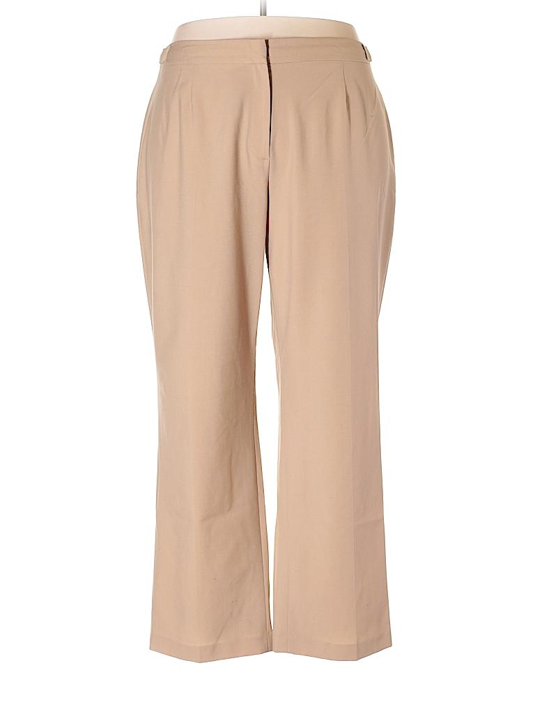 aa0972b6e51 Jones New York Collection Solid Beige Dress Pants Size 18 (Plus ...