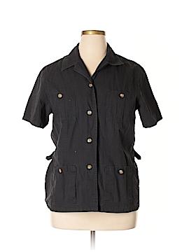 Susan Bristol Short Sleeve Button-Down Shirt Size XL
