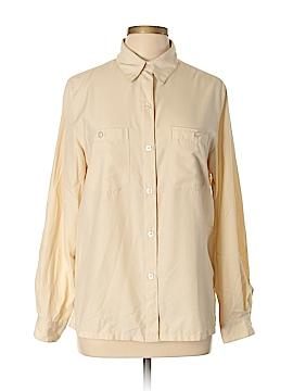 Haggar Long Sleeve Button-Down Shirt Size M (Tall)