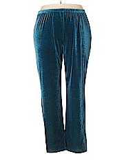 Midnight Velvet Women Velour Pants Size 1X (Plus)