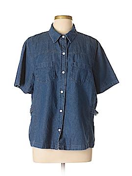 Stonebridge Short Sleeve Button-Down Shirt Size 1X (Plus)
