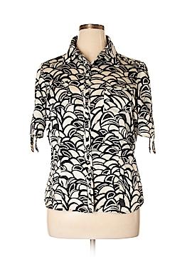 Mixit Short Sleeve Button-Down Shirt Size XL