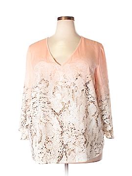 Calvin Klein 3/4 Sleeve Blouse Size 2X (Plus)