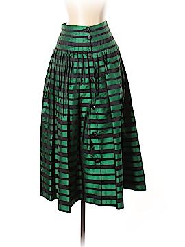 Valentino Miss V Silk Skirt Size 40 (IT)